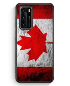 Huawei P40 Silikon Hülle - Kanada Splash Flagge
