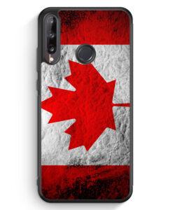 Huawei P40 lite E Silikon Hülle - Kanada Splash Flagge