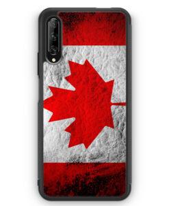 Huawei P Smart Pro Silikon Hülle - Kanada Splash Flagge