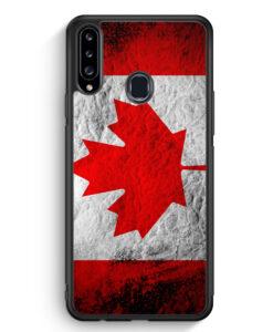 Samsung Galaxy A20s Silikon Hülle - Kanada Splash Flagge