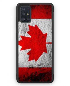 Samsung Galaxy A51 Silikon Hülle - Kanada Splash Flagge