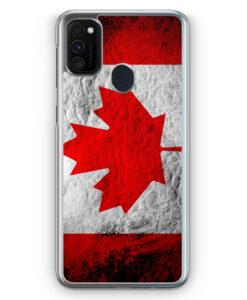 Samsung Galaxy M21 Hülle - Kanada Splash Flagge