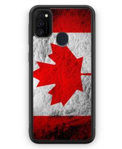 Samsung Galaxy M21 Silikon Hülle - Kanada Splash Flagge
