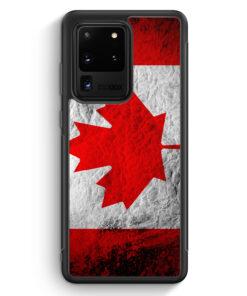 Samsung Galaxy S20 Ultra Silikon Hülle - Kanada Splash Flagge