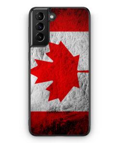 Samsung Galaxy S21+ Plus Silikon Hülle - Kanada Splash Flagge