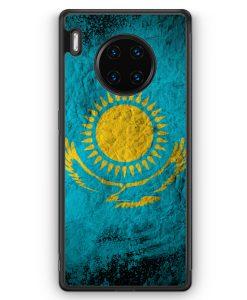 Huawei Mate 30 Pro Silikon Hülle - Kasachstan Splash Flagge