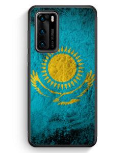 Huawei P40 Silikon Hülle - Kasachstan Splash Flagge