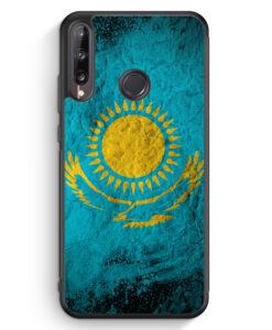 Huawei P40 lite E Silikon Hülle - Kasachstan Splash Flagge