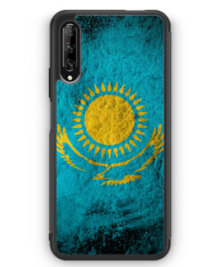 Huawei P Smart Pro Silikon Hülle - Kasachstan Splash Flagge