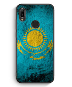 Huawei Y6s Silikon Hülle - Kasachstan Splash Flagge