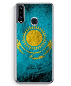 Samsung Galaxy A20s Hülle - Kasachstan Splash Flagge