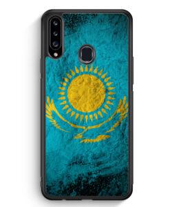 Samsung Galaxy A20s Silikon Hülle - Kasachstan Splash Flagge
