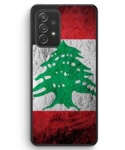 Libanon Splash Flagge - Silikon Hülle für Samsung Galaxy A72
