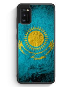 Samsung Galaxy A31 Silikon Hülle - Kasachstan Splash Flagge