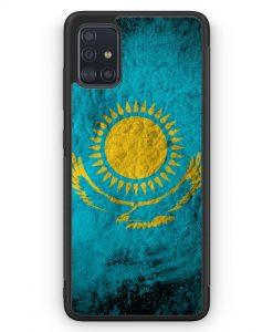 Samsung Galaxy A51 Silikon Hülle - Kasachstan Splash Flagge