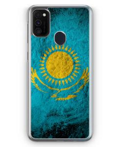 Samsung Galaxy M21 Hülle - Kasachstan Splash Flagge