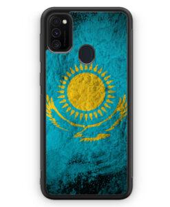 Samsung Galaxy M21 Silikon Hülle - Kasachstan Splash Flagge