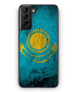 Samsung Galaxy S21 Silikon Hülle - Kasachstan Splash Flagge