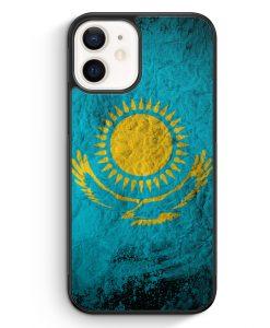 iPhone 12 mini Silikon Hülle - Kasachstan Splash Flagge