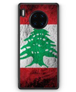 Huawei Mate 30 Pro Silikon Hülle - Libanon Splash Flagge