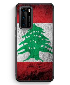 Huawei P40 Silikon Hülle - Libanon Splash Flagge