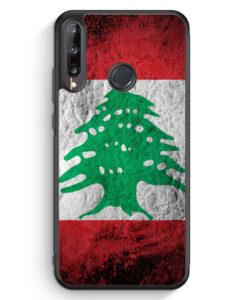 Huawei P40 lite E Silikon Hülle - Libanon Splash Flagge