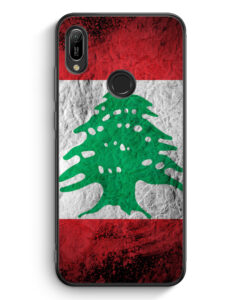 Huawei Y6s Silikon Hülle - Libanon Splash Flagge