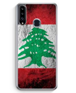 Samsung Galaxy A20s Hülle - Libanon Splash Flagge