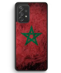 Marokko Splash Flagge - Silikon Hülle für Samsung Galaxy A72