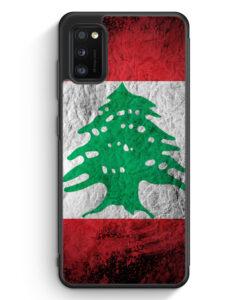Samsung Galaxy A31 Silikon Hülle - Libanon Splash Flagge