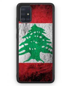 Samsung Galaxy A51 Silikon Hülle - Libanon Splash Flagge