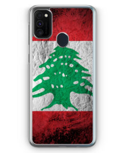 Samsung Galaxy M21 Hülle - Libanon Splash Flagge
