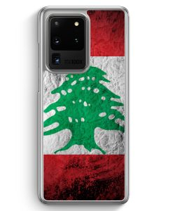 Samsung Galaxy S20 Ultra Hülle - Libanon Splash Flagge