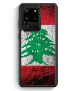 Samsung Galaxy S20 Ultra Silikon Hülle - Libanon Splash Flagge