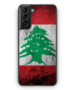 Samsung Galaxy S21+ Plus Silikon Hülle - Libanon Splash Flagge