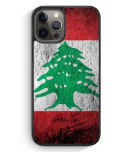 iPhone 12 Pro Silikon Hülle - Libanon Splash Flagge