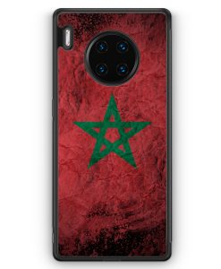 Huawei Mate 30 Pro Silikon Hülle - Marokko Splash Flagge