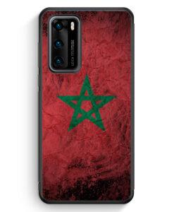 Huawei P40 Silikon Hülle - Marokko Splash Flagge