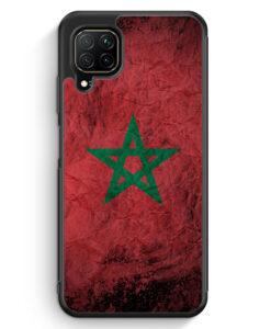 Huawei P40 lite Silikon Hülle - Marokko Splash Flagge