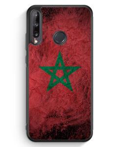 Huawei P40 lite E Silikon Hülle - Marokko Splash Flagge