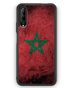 Huawei P Smart Pro Silikon Hülle - Marokko Splash Flagge