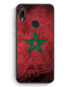 Huawei Y6s Silikon Hülle - Marokko Splash Flagge