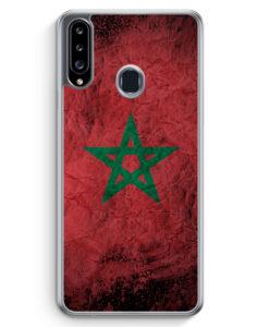 Samsung Galaxy A20s Hülle - Marokko Splash Flagge