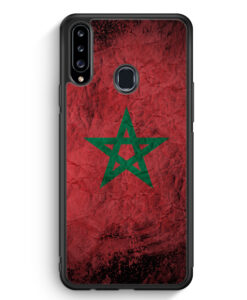Samsung Galaxy A20s Silikon Hülle - Marokko Splash Flagge