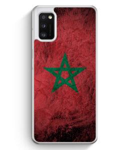 Samsung Galaxy A41 Hülle - Marokko Splash Flagge