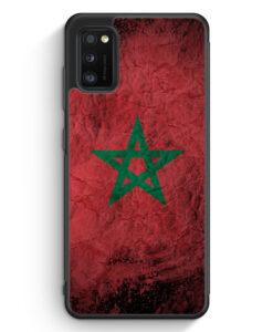 Samsung Galaxy A31 Silikon Hülle - Marokko Splash Flagge