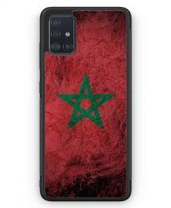 Samsung Galaxy A51 Silikon Hülle - Marokko Splash Flagge