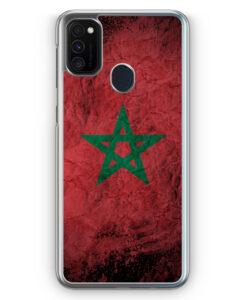 Samsung Galaxy M21 Hülle - Marokko Splash Flagge