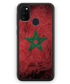 Samsung Galaxy M21 Silikon Hülle - Marokko Splash Flagge