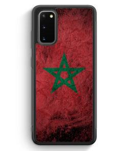 Samsung Galaxy S20 Silikon Hülle - Marokko Splash Flagge